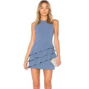 Alice and Olivia Clive asymmetric ruffle dress
